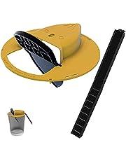N glijemmer deksel muizenval, glijemmer rat trap muisemmer apparaat, muisvangers menselijk, muisvanger voor binnen buiten, compatibel met 5 gallon emmer