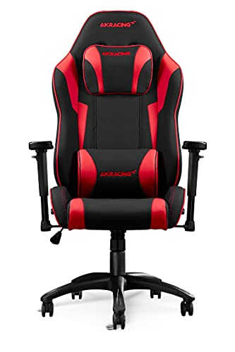 AKRacing Core Series EX SE Gaming Chair - Fabric with PU Accents, Steel Frame, Ergonomic, High Backrest, Recliner, Swivel, Tilt, Rocker & Seat Height Adjustment Mechanisms, 5/10 Warranty, Red