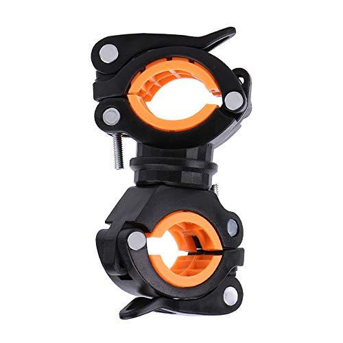 Gobesty bicicleta soporte de luz, 360 Antideslizante Rotación Ciclismo Luz Titular de la Bicicleta Manillar de Montaje de Linterna LED Soporte de la Linterna de MTB Antorcha Abrazadera Clip