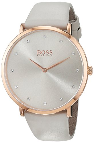 Hugo Boss Damen Datum klassisch Quarz Uhr mit Leder Armband 1502412