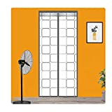 LJIANW Magnetic Screen Door, 2020 Upgrade Door Curtain for Air Conditioner Room/Kitchen, Enjoy Your Cool Summer Auto Closer for Balcony, 42 Sizes (Color : Gray, Size : 80X210cm)