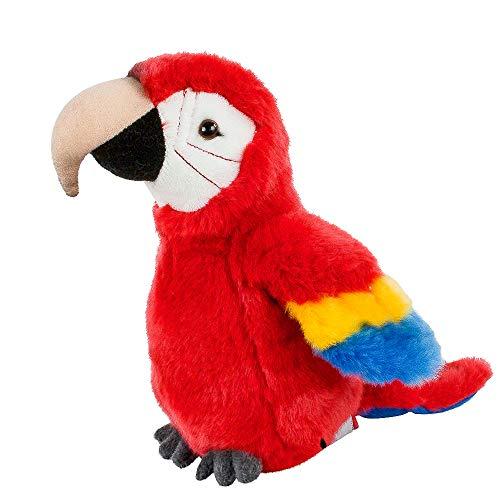 Teddys Rothenburg Kuscheltier Papagei Ara klein rot blau 19 cm Plüsch Stofftier Plüschtier Baby Kinder Spielzeug