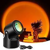 Lámpara de Sunset Joycabin Sunset con proyector LED con USB, romántica visual, luz de puesta de sol para decoración, fotografía, transmisión en directo, puesta de sol, rojo