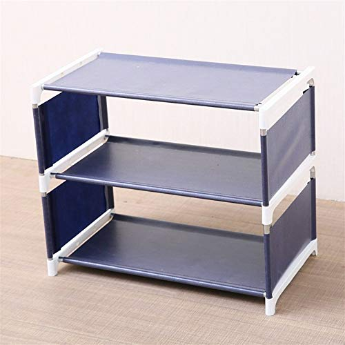 Zapatero de almacenamiento para almacenamiento en casa, 3/4 capas a prueba de polvo, gran zapatero no tejido, caja de almacenamiento para zapatos, gabinete fijo (color: tres capas)
