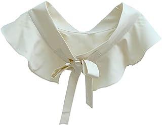KESYOO Bow False Collar Fake Ruffle Shirt Collar Detachable Collar Choker For Women Girls Suit Shirt Sweater Skirt Decorat...