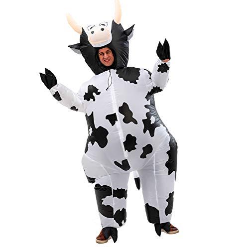 Aufblasbares Kuh Kostüm Erwachsene, super süßes aufblasbares Kostüm für Geburtstagsparty, Halloween, Geschenke