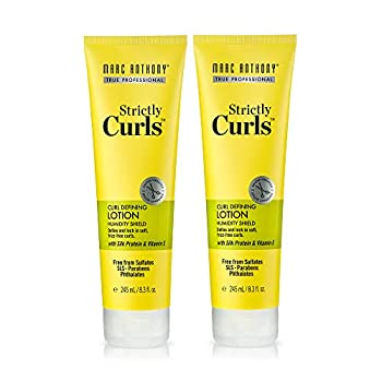 Marc Anthony Strictly Curls Curl Defining & Enhancing Lotion 2 Pack – Vitamin E Moisturizing Detangler Anti Frizz Hair Styling Product For Curls to Bounce & Shine in Wavy Dry Damaged & Curly Hair