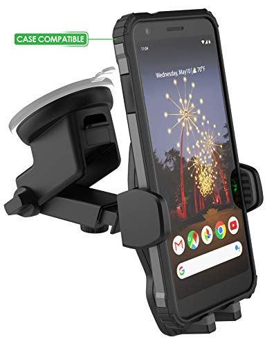 Price comparison product image Encased Google Pixel 2 XL / 3 XL / 3a X / 4 XL Car Mount Holder - Case Friendly Adjustable Dock