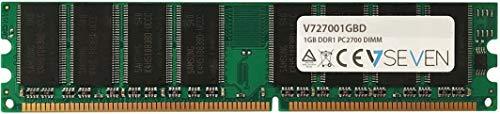 V7 V727001GBD Desktop DDR1 DIMM Arbeitsspeicher 1GB (333MHZ, CL2.5, PC2700, 184pin, 2.5 Volt)