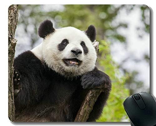 Yanteng Gaming Mouse Pad con Borde Cosido, Panda Animal de Alarma, Alfombrilla de ratón, Base de Goma Antideslizante para computadora portátil, computadora