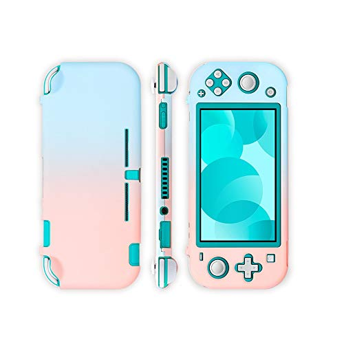 Adorable Case for Nintendo Switch Lite, Grip Protective Cover Case for Nintendo Switch Lite-Blue & Pink (Hard Shell)