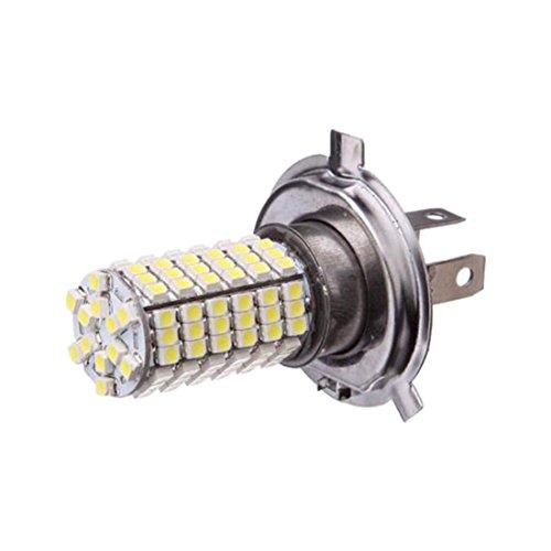 Vaorwne Coche H4 120 LED 3528 SMD Faros Antiniebla Blancos Faros Delanteros 12V Superbrillante Nuevo