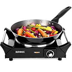 PERFECT COOKING SOLUTION: The ultimate must-have kitchen accessory, the Duronic electric hot plate (or table-top hob) is perfect for those who are limited on kitchen space or without a conventional cooker due to renovating or decorating. Rather than ...
