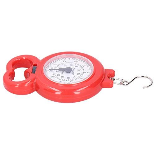 Herramienta de pesaje de Escala de Gancho Mini para Compras Familiares Pesca con Pesas(Red)