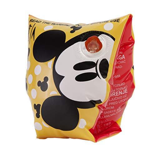 Speedo Unisex-Youth Disney Printed Armbands Mickey Mouse, Empire Yellow/Black/White, 2-6