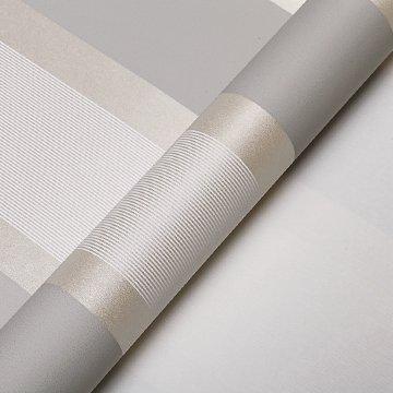 Moderner puristischer vertikalen Streifen im Mittelmeer Vliestapete Rolle für Wohnzimmer Schlafzimmer TV Hintergrund Wand 0,53 m (52,8 cm) * 10 Mio. (32,8 ') M = 5.3sqm (M³), Light gray
