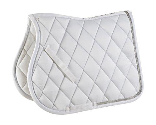 Equi-Theme/Equit suis Unisexe 204690001Diamant Tapis de Selle, Blanc, Taille Unique