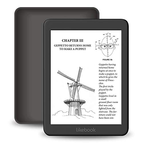 """Likebook mars e-reader, 7. 8""""hd display 300ppi, warm/cold light, android 8. 1, support wifi, bluetooth data transfer, 2g+16gb"""