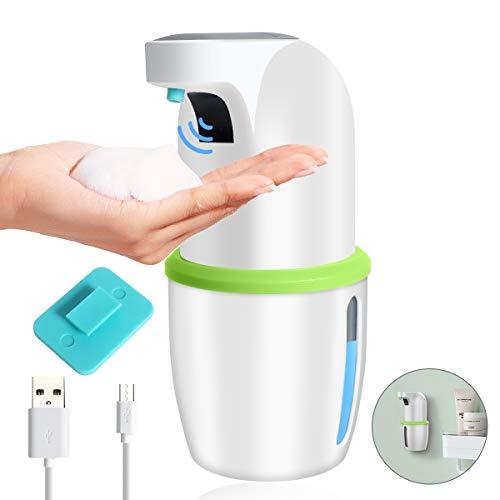 Mingcheng Seifenspender Automatisch 275ml Elektrischer Aufhängbarer Schaumseifenspender mit Wandhaker Berührungsloser USB-Schnellladung Schaumspender für Bad, Küche, Büro/öffentlicher