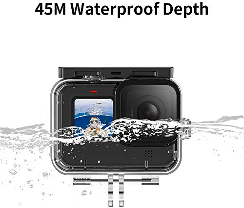 Taoric Waterproof Case with 3-Pack Dive Filter for Gopro Hero 9 Black Supports 45M/148FT Underwater Scuba Snorkeling Deep Diving with Red Magenta Filter