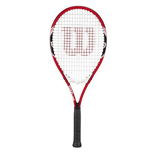 """wilson Federer Tennis Racquet (EA) Red/White/Black, 4 3/8\"""""""