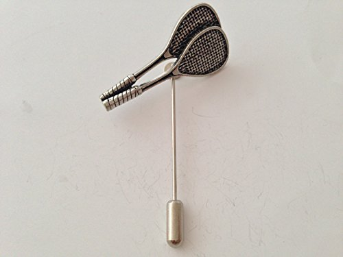 S12 Raquetas de squash fino estaño inglés Motif on a tie stick pin sombrero bufanda collar abrigo