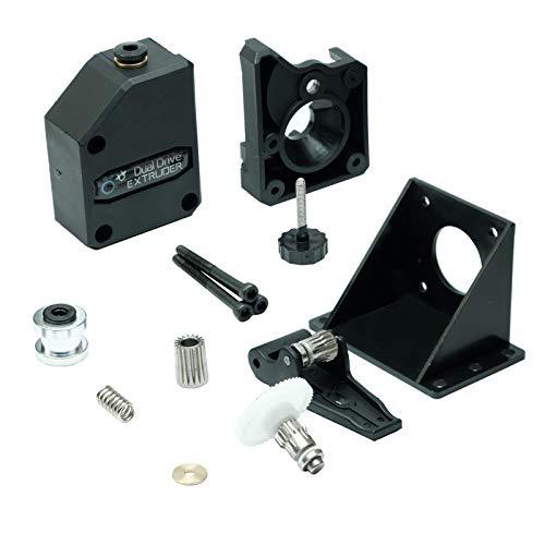 Paradisetronic.com Extrusora BMG, extrusora Bowden de doble accionamiento para impresoras 3D, filamento de 1,75 mm, CR10, MK8, Prusa i3, Ender 3 (Pro) y otros