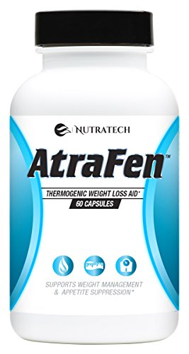Nutratech Atrafen Powerful Fat Burner and Appetite Suppressant Diet Pill System for Fast Weight Loss for Women and Men. 60 Count.