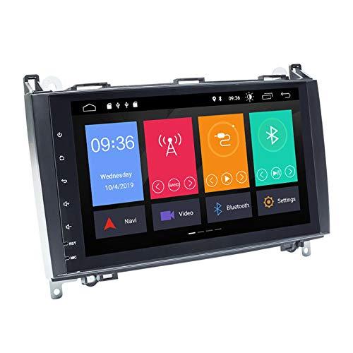 QIQIDIAN Android 10 Autoradio Divertissement Multimédia Compatible avec Mercedes Benz B200 Sprinter W906 A Classe B W169 W245 Viano VIT W639 GPS Navigation,16 GB