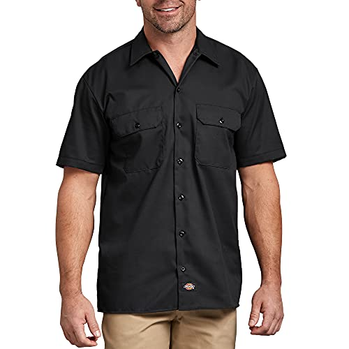 Dickies mens Short Sleeve work utility shirts, Black, XX-Large US