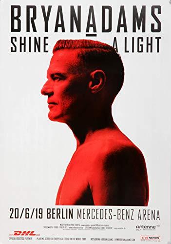 Bryan Adams - Shine A Light, Berlin 2019 » Konzertplakat/Premium Poster | Live Konzert Veranstaltung | DIN A1 «