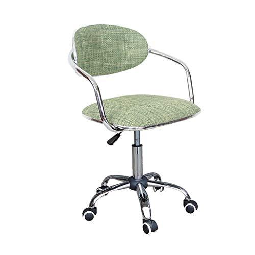 ZHFZD Mode rotan draaistoel, computer stoel achterstoel registreerkop kruk draaistoel recept computer kruk (kleur: B) Size E