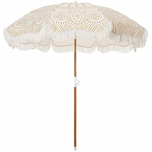 QQ HAO Paraguas de playa plegable de 1,8 m, paraguas de playa plegable repelente al agua, protección UV