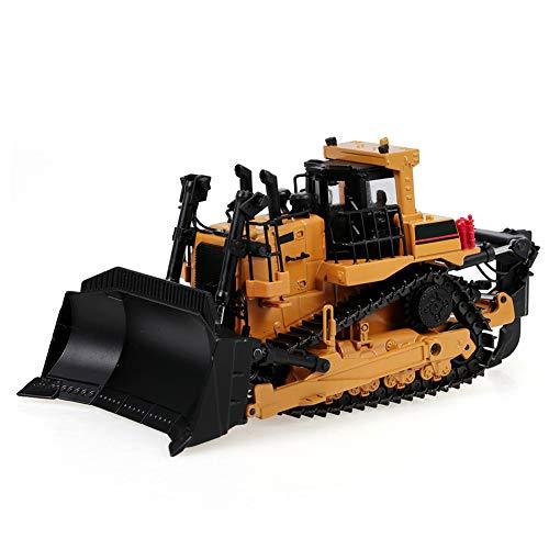 1:50 Legering Gieten Zware Bulldozer Techniek Voertuig Statisch Model Wiel Wiel Bulldozer Educatief Afstandsbediening Speelgoed