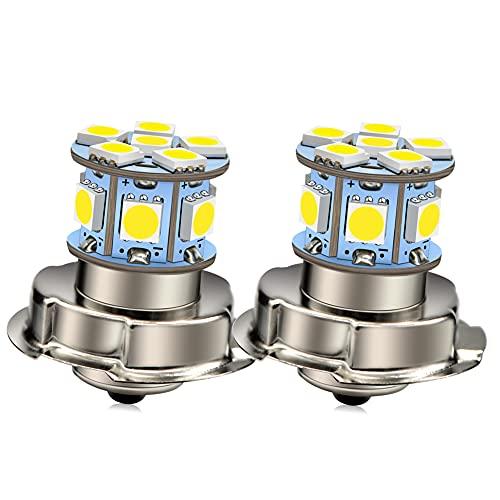 Ruiandsion 2pcs P26S LED lampadina da DC 12V lampadina luminosa eccellente 5050 LED 6000K bianco 12SMD chipset per motociclo della motocicletta faro