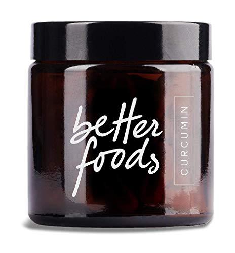 Better Foods Capsule di Curcumina - Integratore Naturale Antiossidante a Base di Curcuma Con Vitamina D - Antinfiammatorio e Dolori alle Articolazioni - Aiuta a Dimagrire e Depurarsi I 60 Compresse