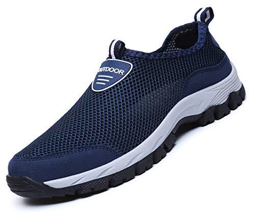 Zapatillas De Deporte Hombres Malla Sandalias Transpirable Sin Cordones De Montañismo Running Zapatos del Ocio Peso Ligero Verano