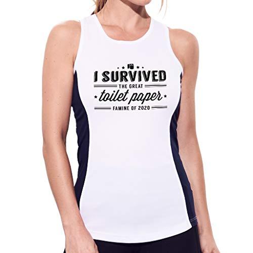 Ik overleefde de grote toiletpapier hongersnood van 2020 Women's Contrast Performance Vest