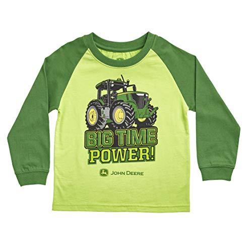 John Deere JFT562GF18A Camiseta, Verde, 18 Meses para Bebés