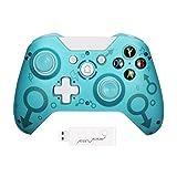 ZSGG Kabelloser Controller für Xbox One, 2,4 GHz, Gamepad, Joystick, verstellbar, Doppelschock-Vibration, kompatibel mit Xbox One/PS3/PC