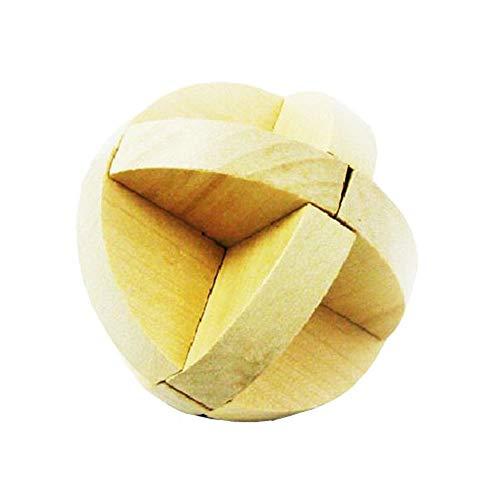 Puzzle Madera 3D para niños, Juegos de Ingenio IQ Juguete Educativos, Juego Logica de para Niños y Adultos, Juguete para el hogar Oficina decoración ecológica Regalo (Luban Ball)