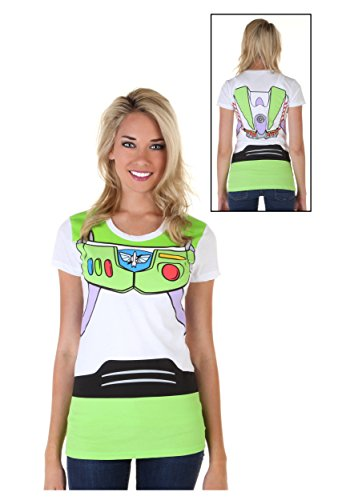 Toy Story Buzz Lightyear Astronaut Costume Juniors T-shirt (Large)