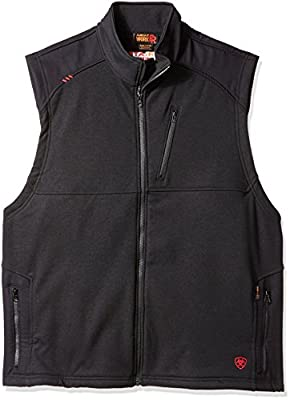 Ariat Men's Big Flame Resistant Platform Vest, Black, X-Large- Tall by Ariat Men's Sportswear