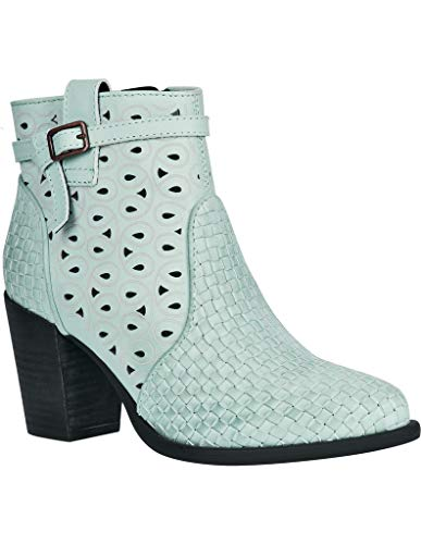Dingo Women's Mint Be Famous Fashion Booties Round Toe Green 8.5 M