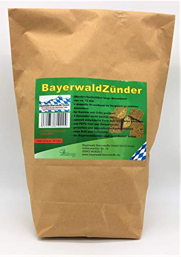 2,5 kg Anzünder, Brenndauer ca. 14 min, Made in Germany!
