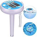 Floating Pool Thermometer, Solar Powered Digital Thermometer, Easy to Read & Shatter Resistant Pool...
