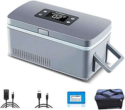WXking Caja frigorífica de Enfriador de insulina portátil con batería de Litio LCD Mostrar refrigerador Drug Reefer 2-8 ° C para el refrigerador del Coche de Viaje