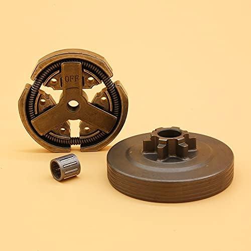 3/8 tambor de embrague y embrague y cojinete de agujas piezas de repuesto para chino 3800 38CC accesorios de piezas de reparación de motosierra de jardín