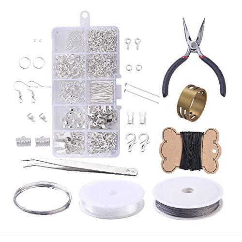Sweieoni Accesorio reparación de Bisutería Kit Joyeria hacer Alicates para Bisuteria Kit de accesorios de Joyería Artesanal Material para Hacer Bisuteria Kit bisuteria