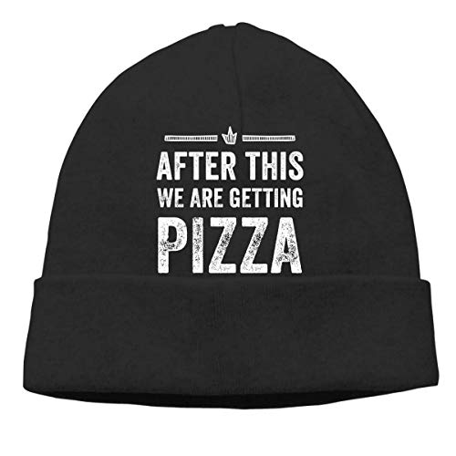 N/Q After This We Are Getting Pizza Beanies Caps Unisex Soft Cotton Hedging cap
